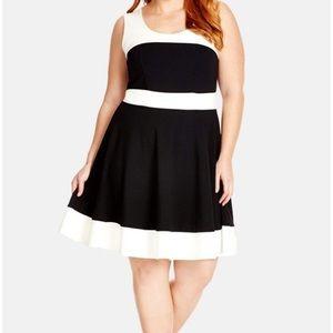 City Chic, color block dress 👗